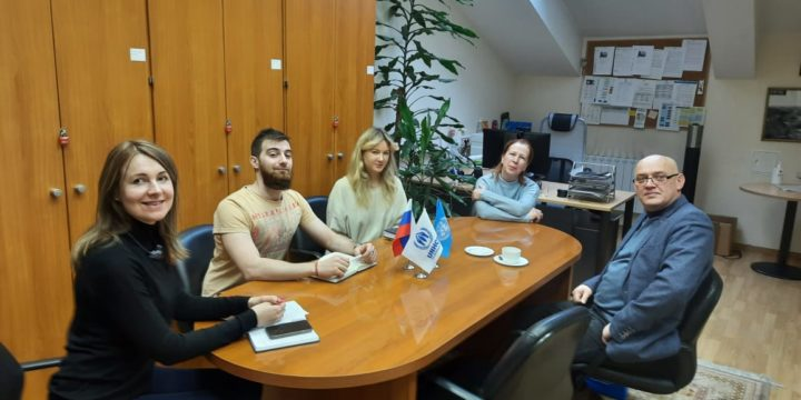 Working meeting at the UN Refugee Agency in Russia.